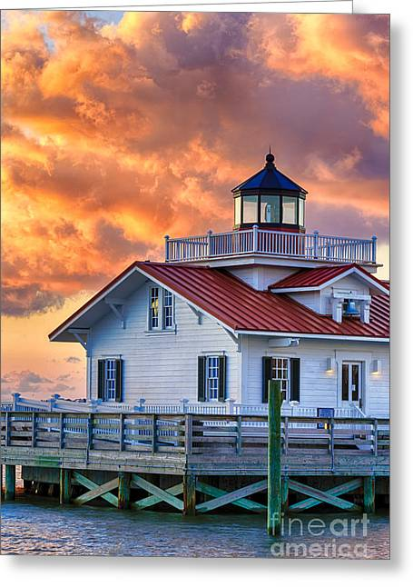 Beach Cottage Style Greeting Cards - Fire in The Sky Greeting Card by Dan Waters