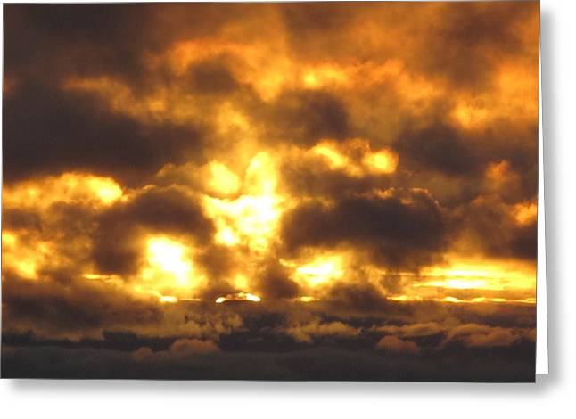 Fire In The Sky Greeting Card by Donnie Freeman
