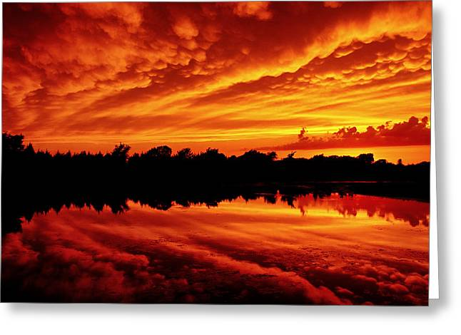 Jmpolitte Greeting Cards - Fire in the Sky Greeting Card by Jason Politte