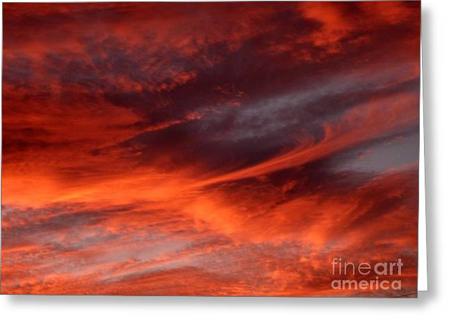 Fire In The Sky Greeting Card by Julia  Walsh