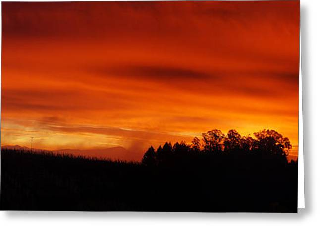 Angels Breath Greeting Cards - Fire in the Sky Greeting Card by Stan Angel