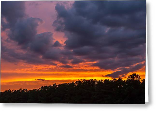 Book Cover Art Greeting Cards - Fire In The Sky Greeting Card by Terry DeLuco
