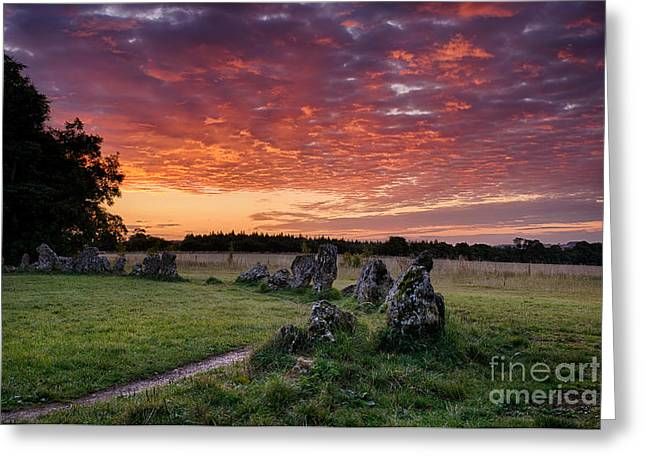 Bronze Age Greeting Cards - Fire in the Sky Greeting Card by Tim Gainey