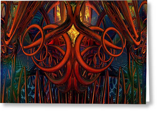 Tion Greeting Cards - Fire inside of Daniel Fx Greeting Card by G Adam Orosco
