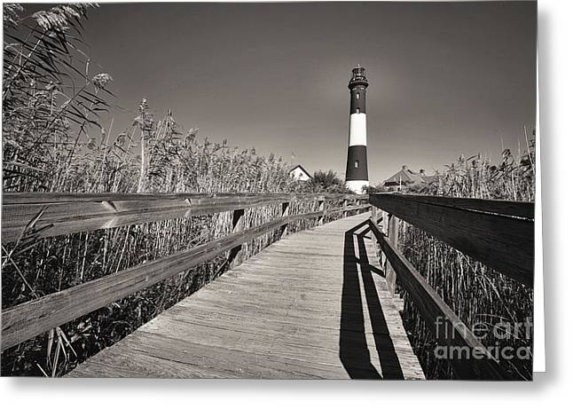 Robert Moses Greeting Cards - Fire Island Boardwalk Greeting Card by George Oze