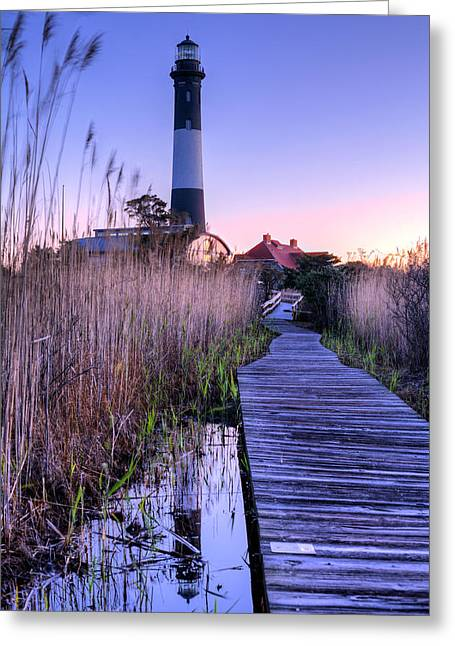 Robert Moses Greeting Cards - Fire Island Reflections Greeting Card by JC Findley