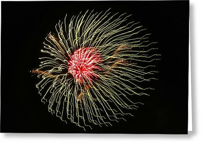 Jelly Fish Greeting Cards - Fire Jellyfish Greeting Card by Patricia Januszkiewicz