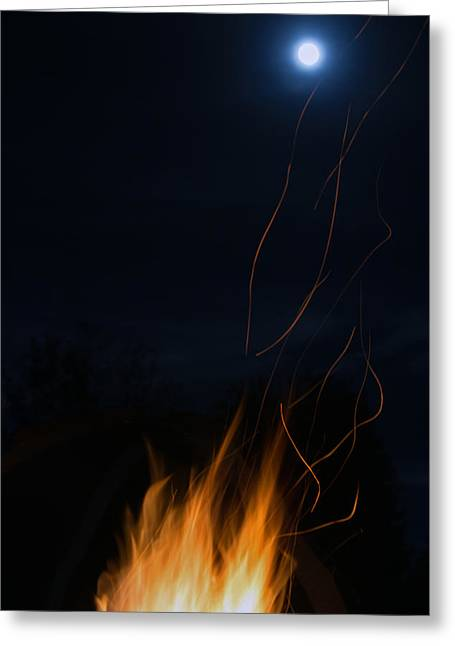 Fire Greeting Cards - Fire Laces Greeting Card by MaJoR  Images