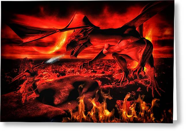Legends Field Digital Art Greeting Cards - Fire Magic Greeting Card by Todd and candice Dailey