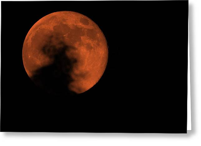 Super Moon Greeting Cards - Fire Moon 2013 Greeting Card by Ernie Echols