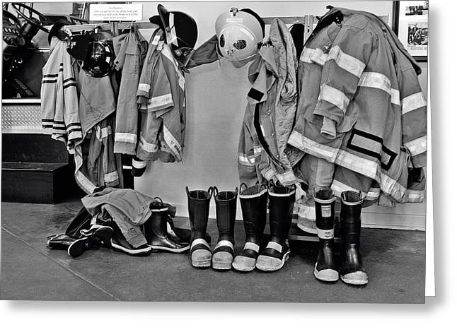 Jackets Greeting Cards - Fire Museum Beaumont TX Greeting Card by Christine Till