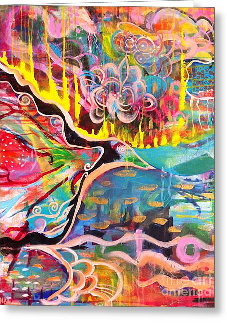 Unconsciousness Greeting Cards - Fire of Transformation Greeting Card by Kim Heil