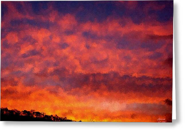 Fire On The Hillside Greeting Card by Bruce Nutting