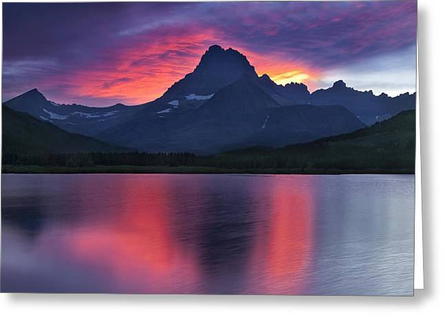 Fire on the Mountain Greeting Card by Andrew Soundarajan