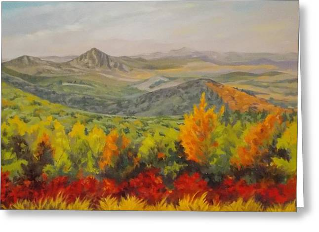 Arkansas Paintings Greeting Cards - Fire On the Mountain Greeting Card by Margaret Moore Foote