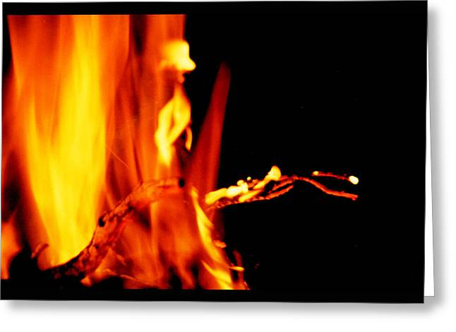 Fire Salamander Greeting Cards - Elemental Fire Spirit Greeting Card by Susanne Still