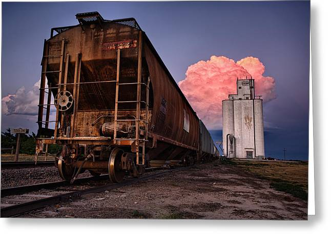Nimbus Greeting Cards - Fire Train Greeting Card by Thomas Zimmerman