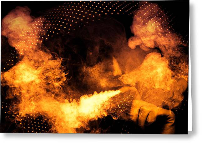 Editorial Greeting Cards - Fire Walk with Me Greeting Card by Loriental Photography