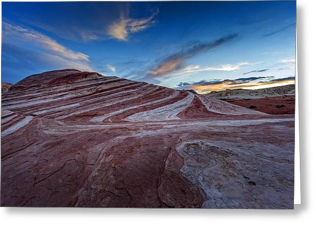 Valley Of Fire Nevada Greeting Cards - Fire Wave I Greeting Card by Rick Berk