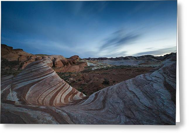 Valley Of Fire Nevada Greeting Cards - Fire Wave IV Greeting Card by Rick Berk