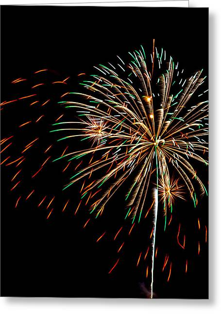 Holiday Blast Greeting Cards - Fire works 1 Greeting Card by Paul Freidlund