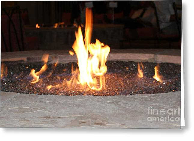 Firepit Greeting Cards - Fire you Greeting Card by Theresa Davis