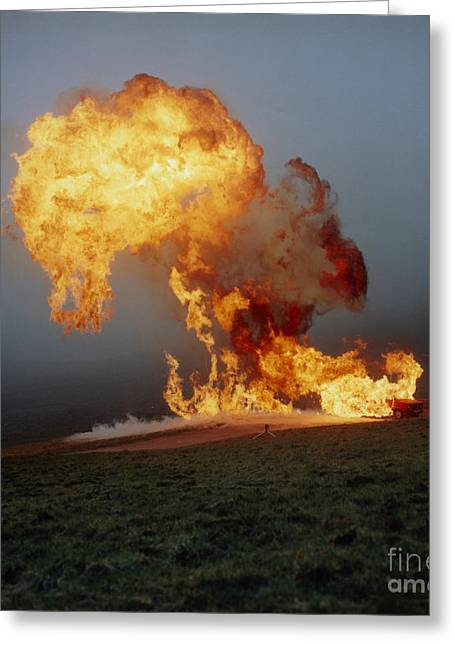 Petroleum Gas Explosion Greeting Cards - Fireball From Liquid Petroleum Gas Greeting Card by Crown Copyright/Health & Safety Laboratory
