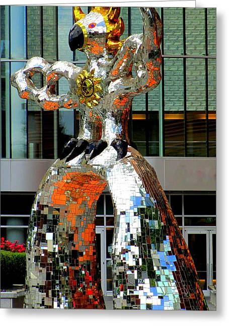 Charlotte Uptown Greeting Cards - Firebird With Knight Greeting Card by Randall Weidner