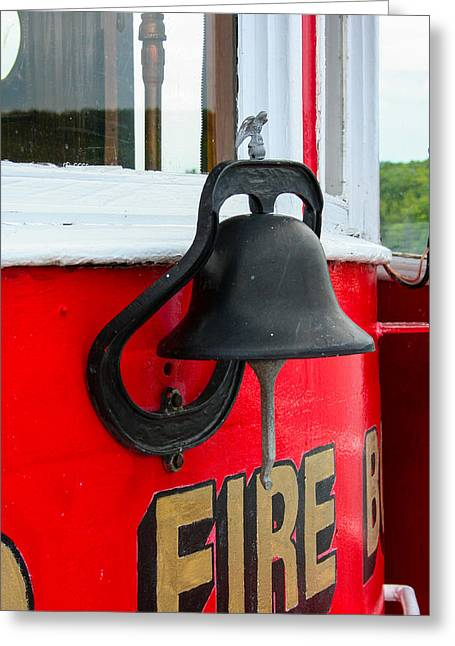 Fireboat Greeting Cards - Fireboat Bell Greeting Card by Tommy Anderson