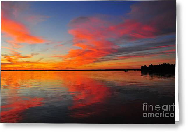 Firecracker Sunset 19 Greeting Card by Terri Gostola