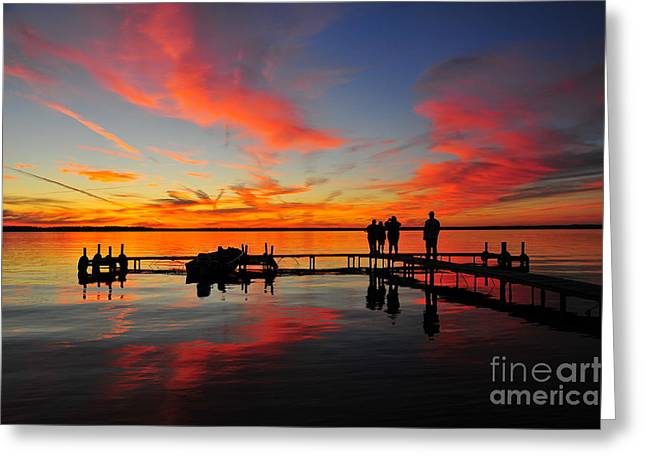 Romantic Greeting Cards - Firecracker Sunset 24 Greeting Card by Terri Gostola