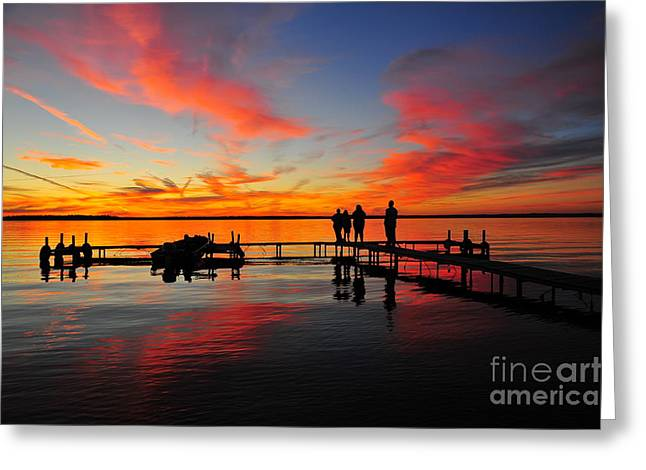 Firecracker Sunset 26 Greeting Card by Terri Gostola