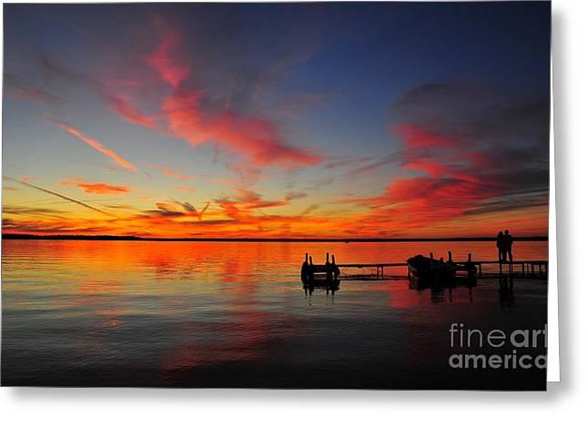 Twilight Greeting Cards - Firecracker Sunset 31 Greeting Card by Terri Gostola