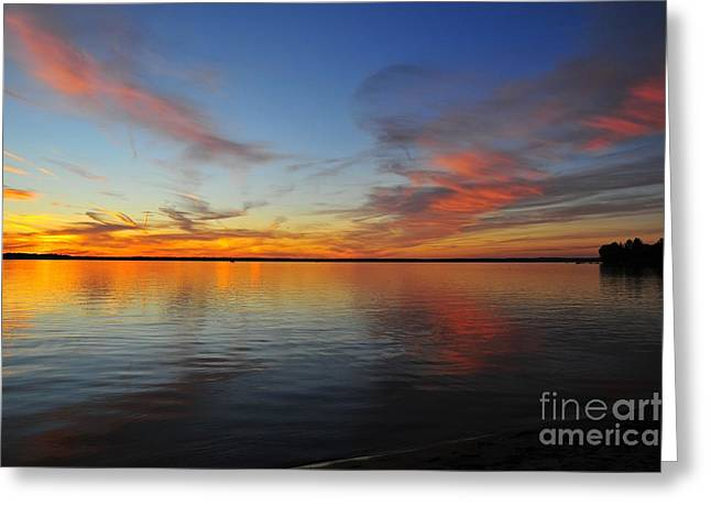 Twilight Greeting Cards - Firecracker Sunset 6 Greeting Card by Terri Gostola