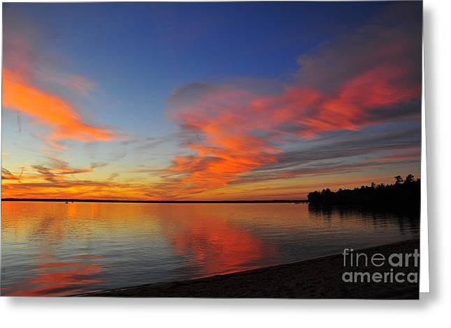 Twilight Greeting Cards - Firecracker Sunset 9 Greeting Card by Terri Gostola