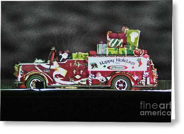 Firefighters Christmas Greeting Card by Tommy Anderson