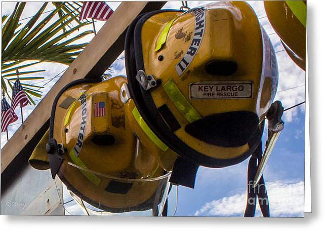 Brigade Greeting Cards - Firefighters We Salute You Greeting Card by Rene Triay Photography