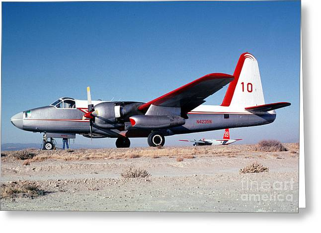 Fixed Wing Multi Engine Greeting Cards - Firefighting Airtanker N4235N Greeting Card by Wernher Krutein