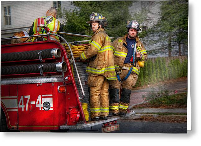 Firefighting - Only you can prevent fires Greeting Card by Mike Savad