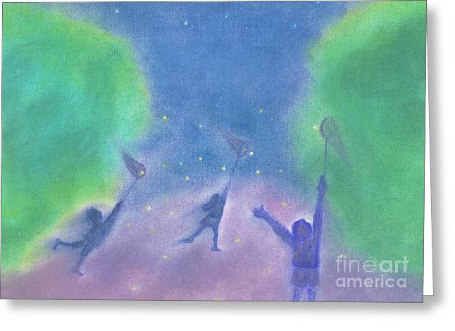 Fireflies By Jrr Greeting Card by First Star Art
