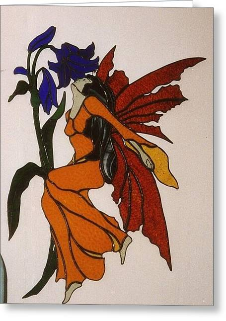 Lady Glass Greeting Cards - Firefly Greeting Card by Nora Solomon