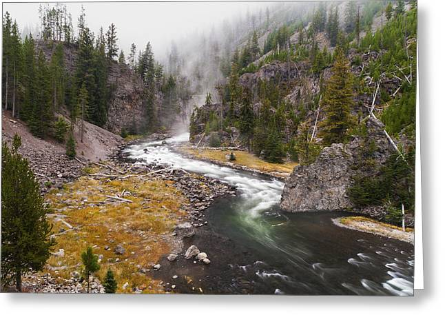 Water Flowing Greeting Cards - Firehole Canyon - Yellowstone Greeting Card by Brian Harig