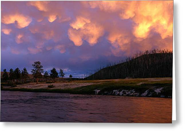 Geysers Greeting Cards - Firehole River Yellowstone National Greeting Card by Panoramic Images