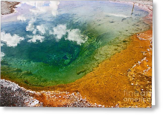 Firehole Spring Ten Greeting Card by Donald Sewell