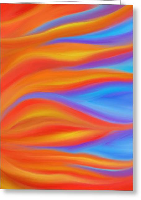 Firelight Greeting Card by Daina White