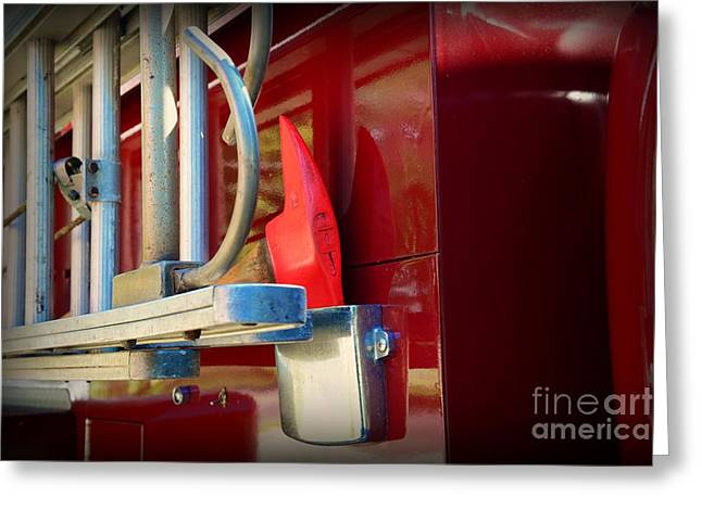 Fireman Hook and Ladder Greeting Card by Paul Ward