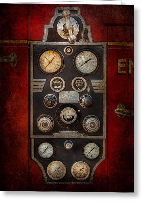 Fireman - Keep An Eye On The Pressure  Greeting Card by Mike Savad