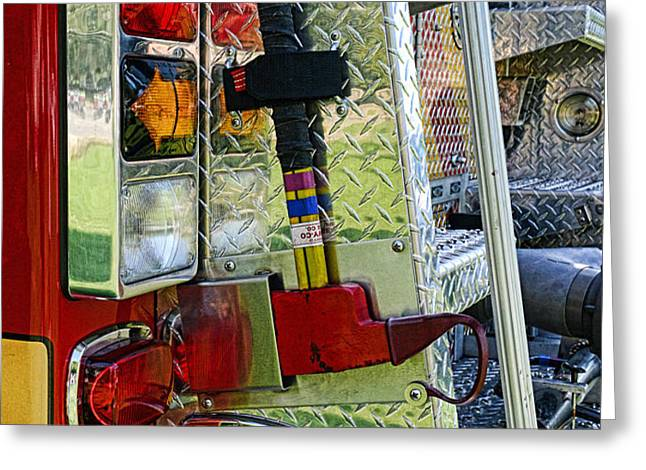 Fireman keep back 300 feet Greeting Card by Paul Ward