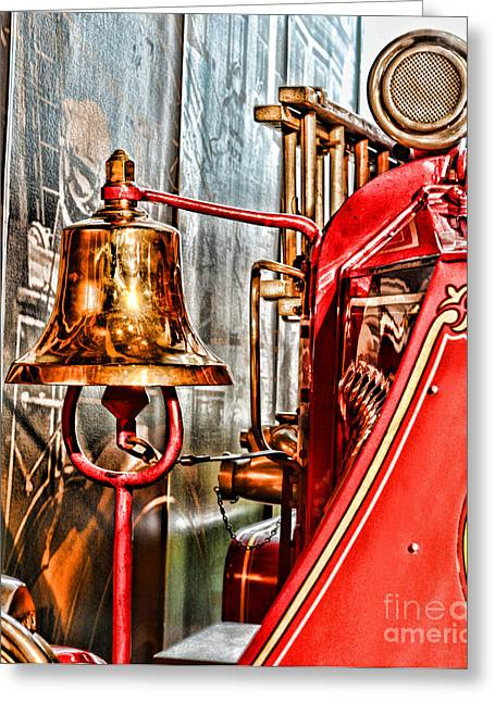 Emergency Vehicle Greeting Cards - Fireman - The Fire Bell Greeting Card by Paul Ward