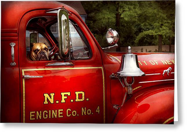 Brigade Greeting Cards - Fireman - This is my truck Greeting Card by Mike Savad
